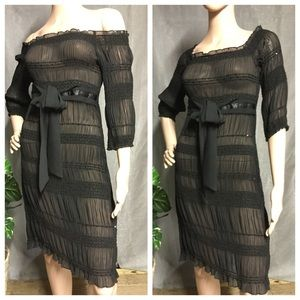 ABS Collection black dress Sheer Small